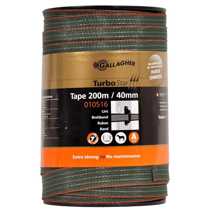 Elband 40mm Gallagher TurboStar Band grönt 200m