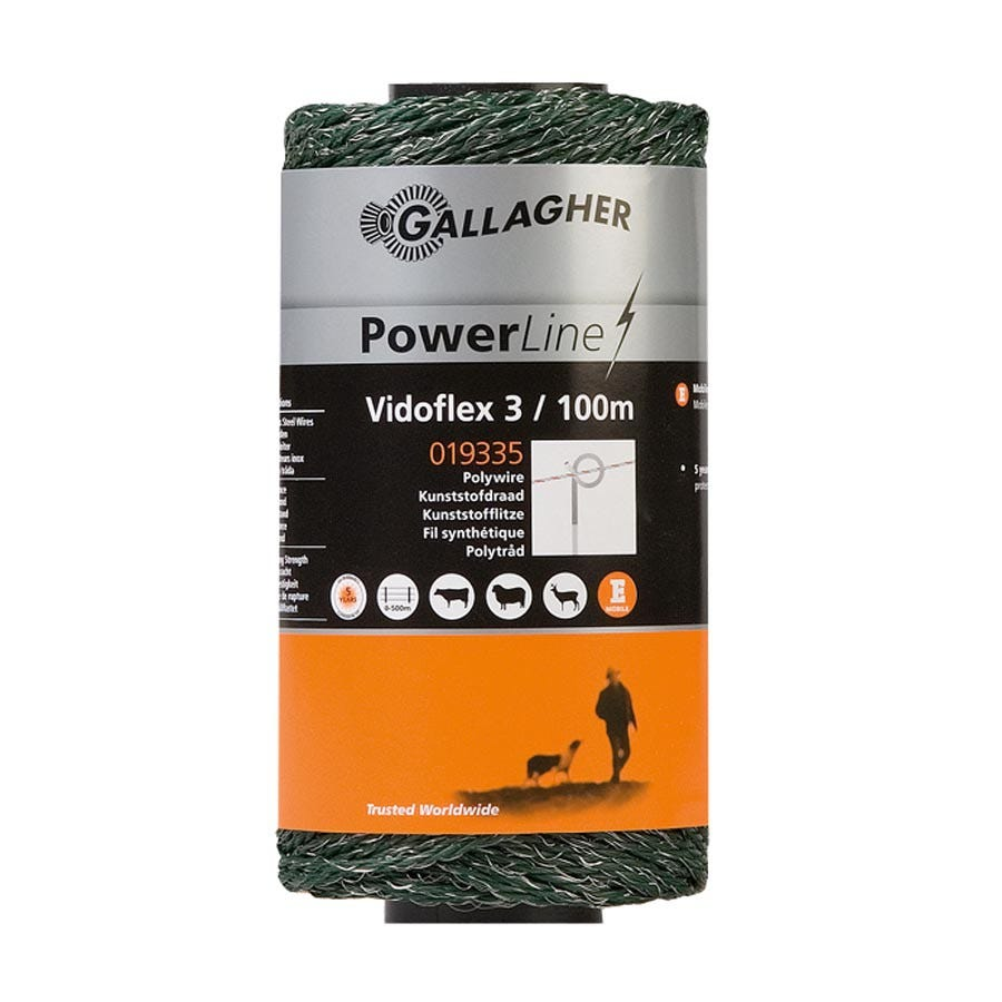 Eltråd Gallagher Vidoflex 3 Grön 100 M