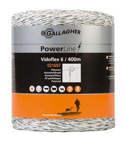 Eltråd Gallagher Vidoflex 6 Vit 400m