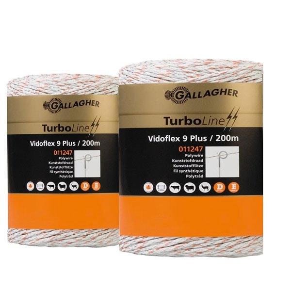 Eltråd Gallagher Duopack Turboline 9 Plus 2x200m