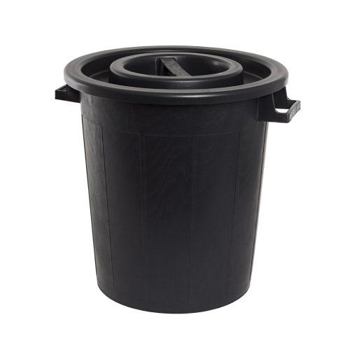 Tunna 50 Liter Med Lock Svart