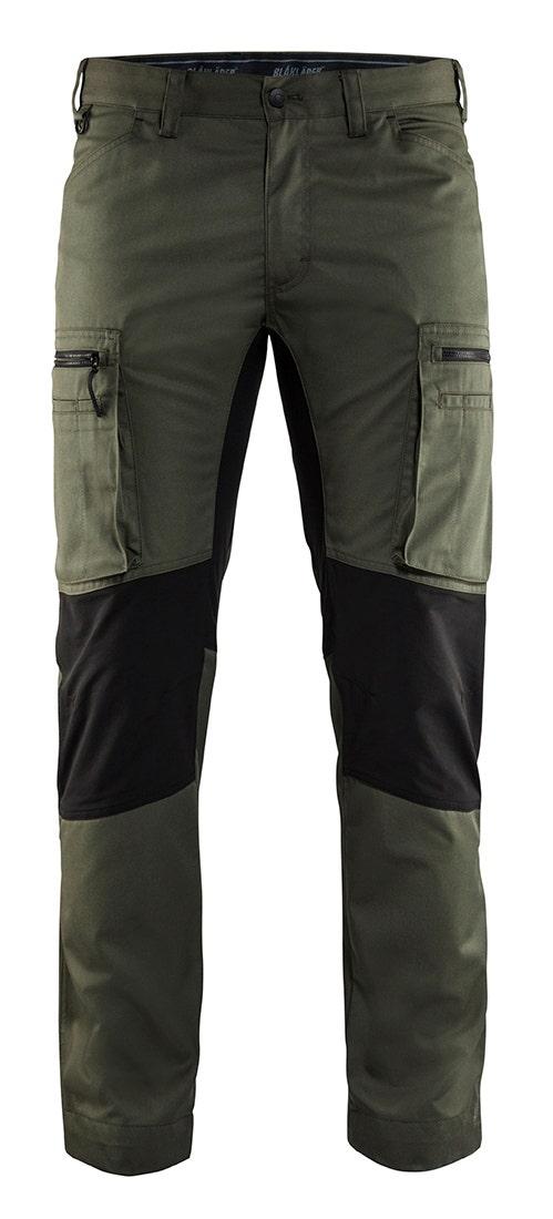 Arbetsbyxa Blåkläder Stretch Armégrön/svart 1459 D120
