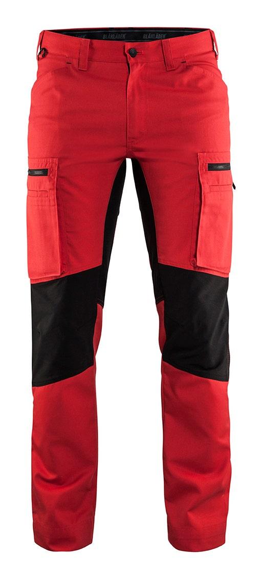 Arbetsbyxa Blåkläder Stretch Röd/Svart 1459 D100