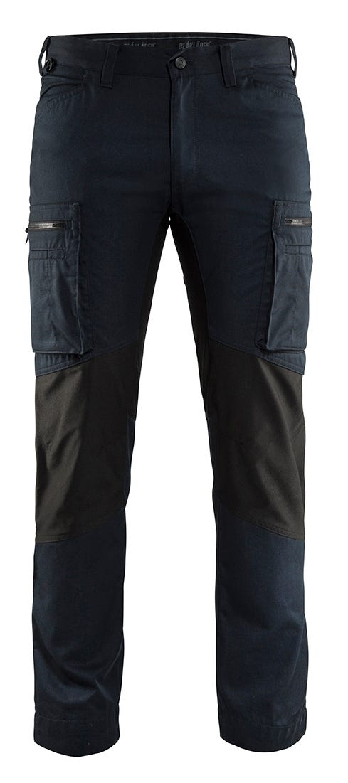 Arbetsbyxa Blåkläder Stretch Mörk Marinblå/svart 1459 C54