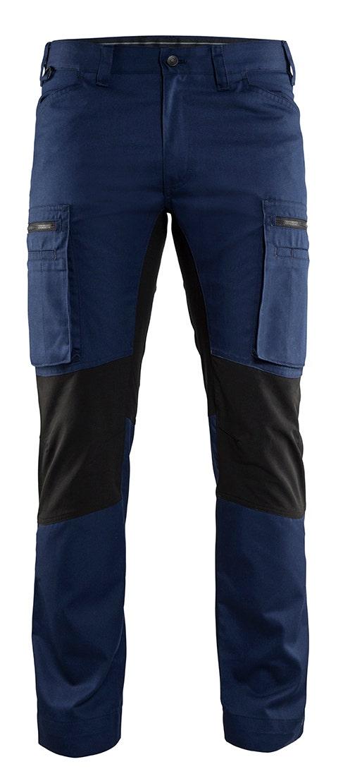 Arbetsbyxa Blåkläder Stretch Marinblå/svart 1459 D88