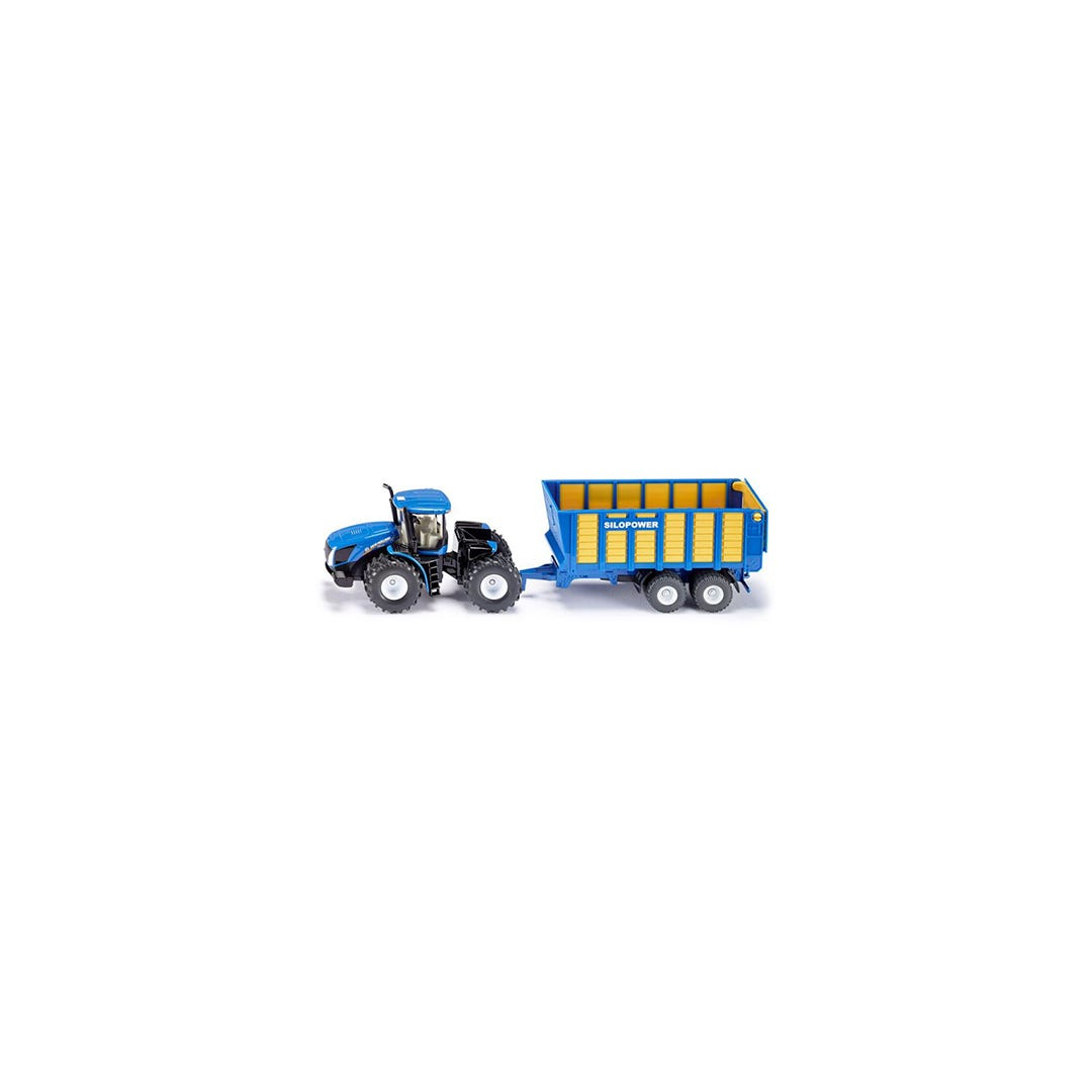 Traktor New Holland T9560 Med ensilagevagn Siku Skala 01:50