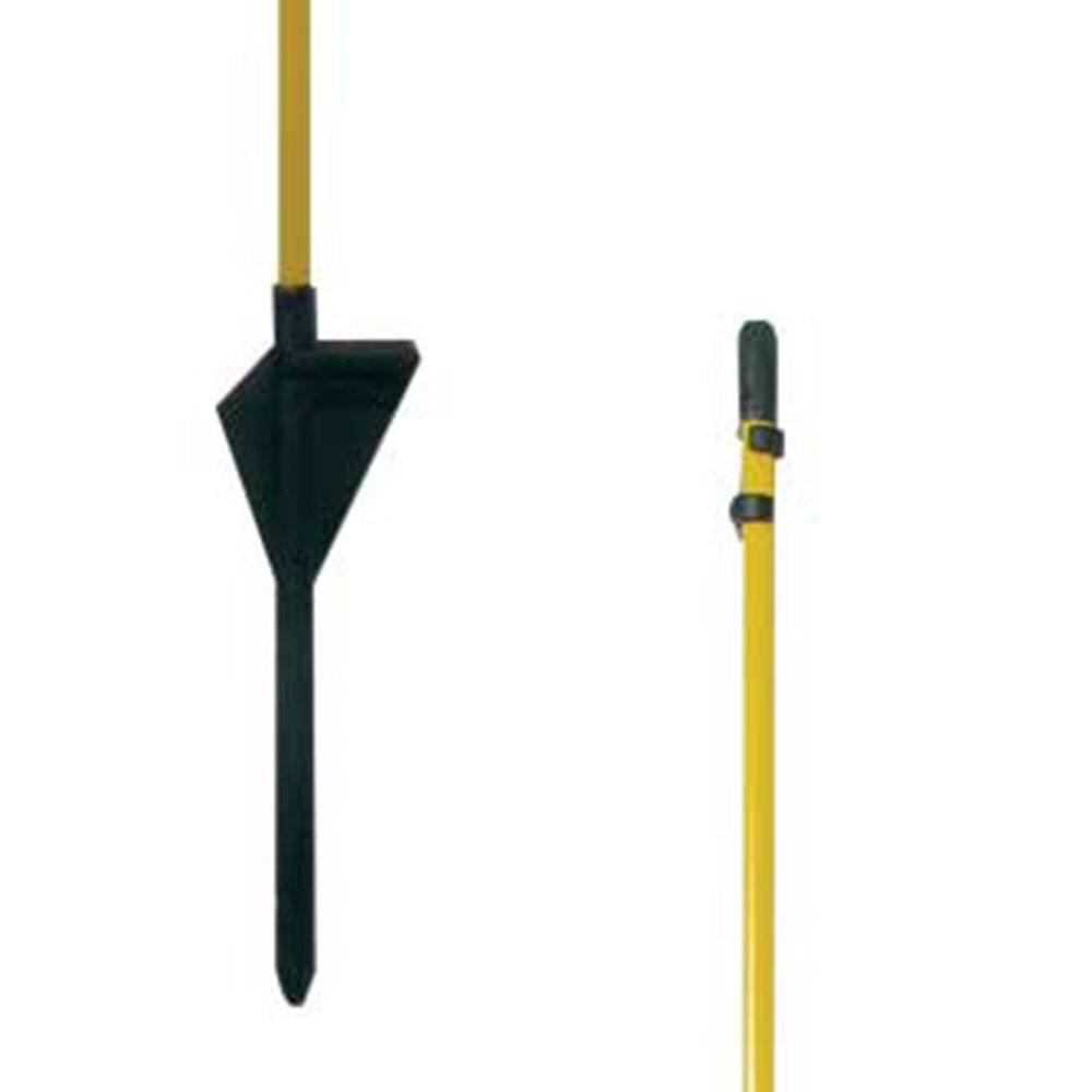 Glasfiberstolpe Swedguard Oval 1100mm Gul