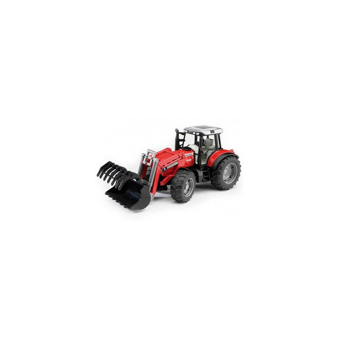 Traktor Massey Ferguson 7480 Med frontlastare Bruder