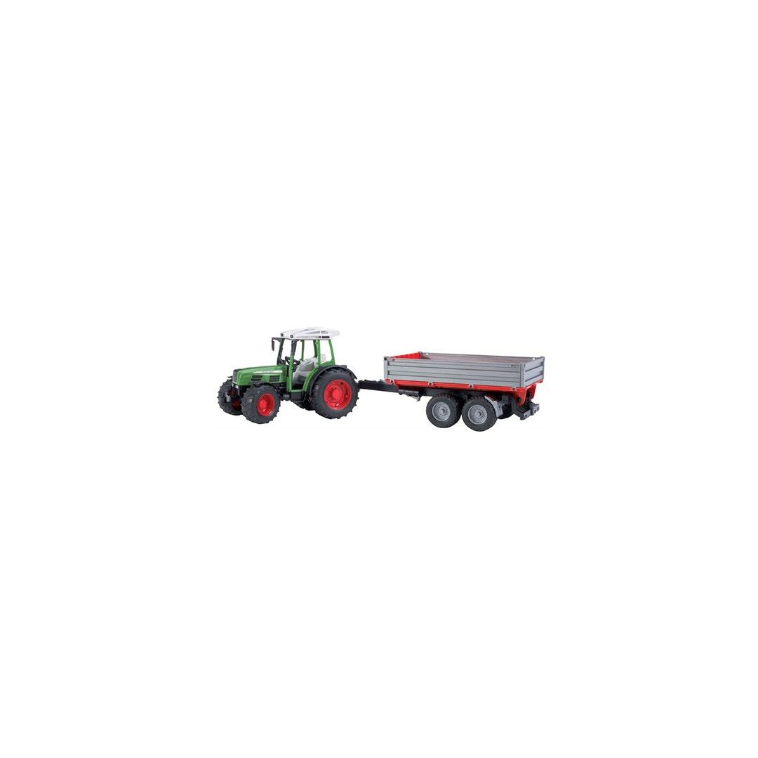 Traktor Fendt 209 S Med släpkärra Bruder