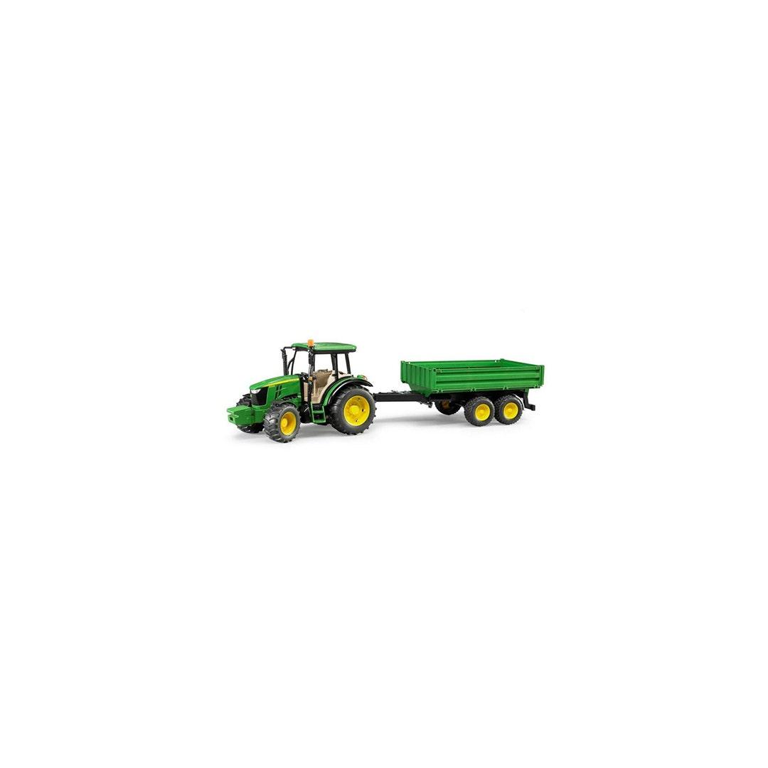 Traktor John Deere 5115m Med släpkärra Bruder Skala 01:16