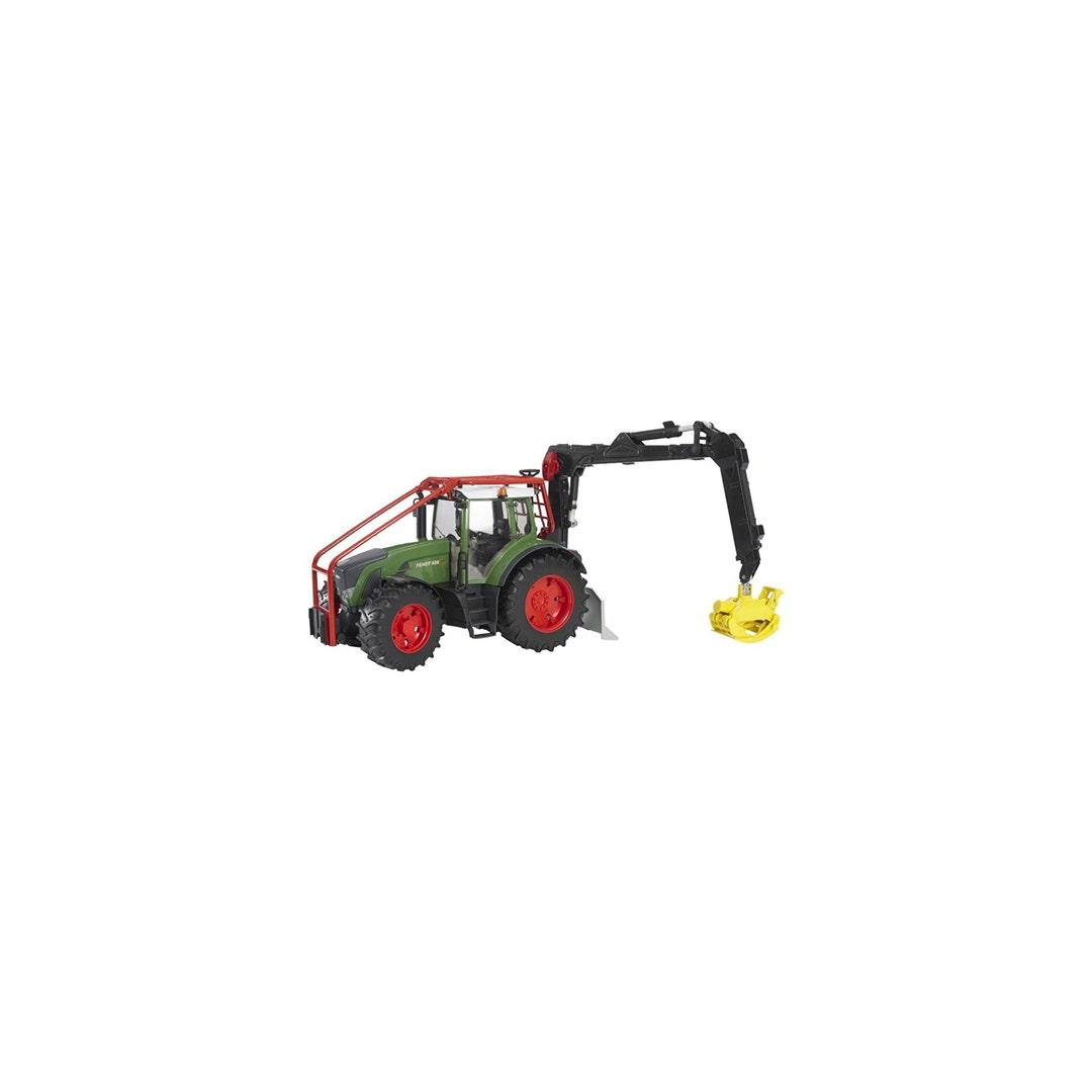 Traktor Fendt 936 Vario Med skogskran Bruder 01:16