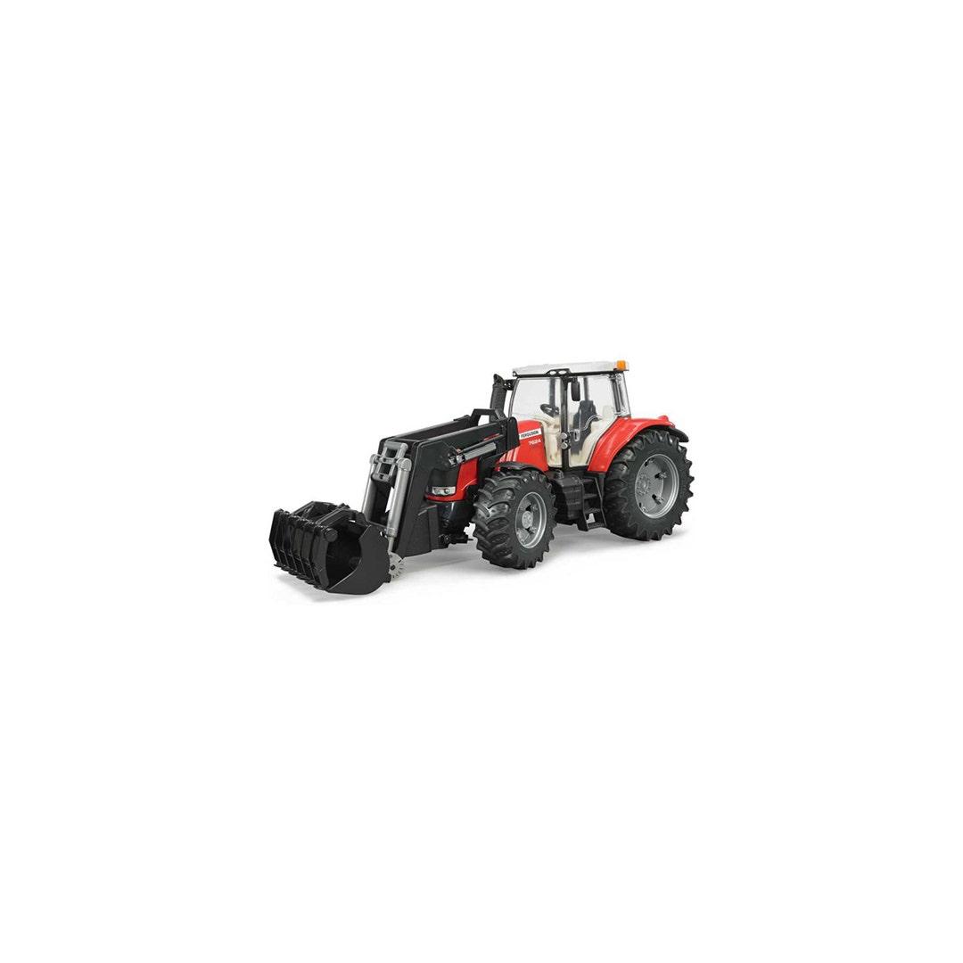 Traktor Massey Ferguson 7624 Med frontlastare Bruder