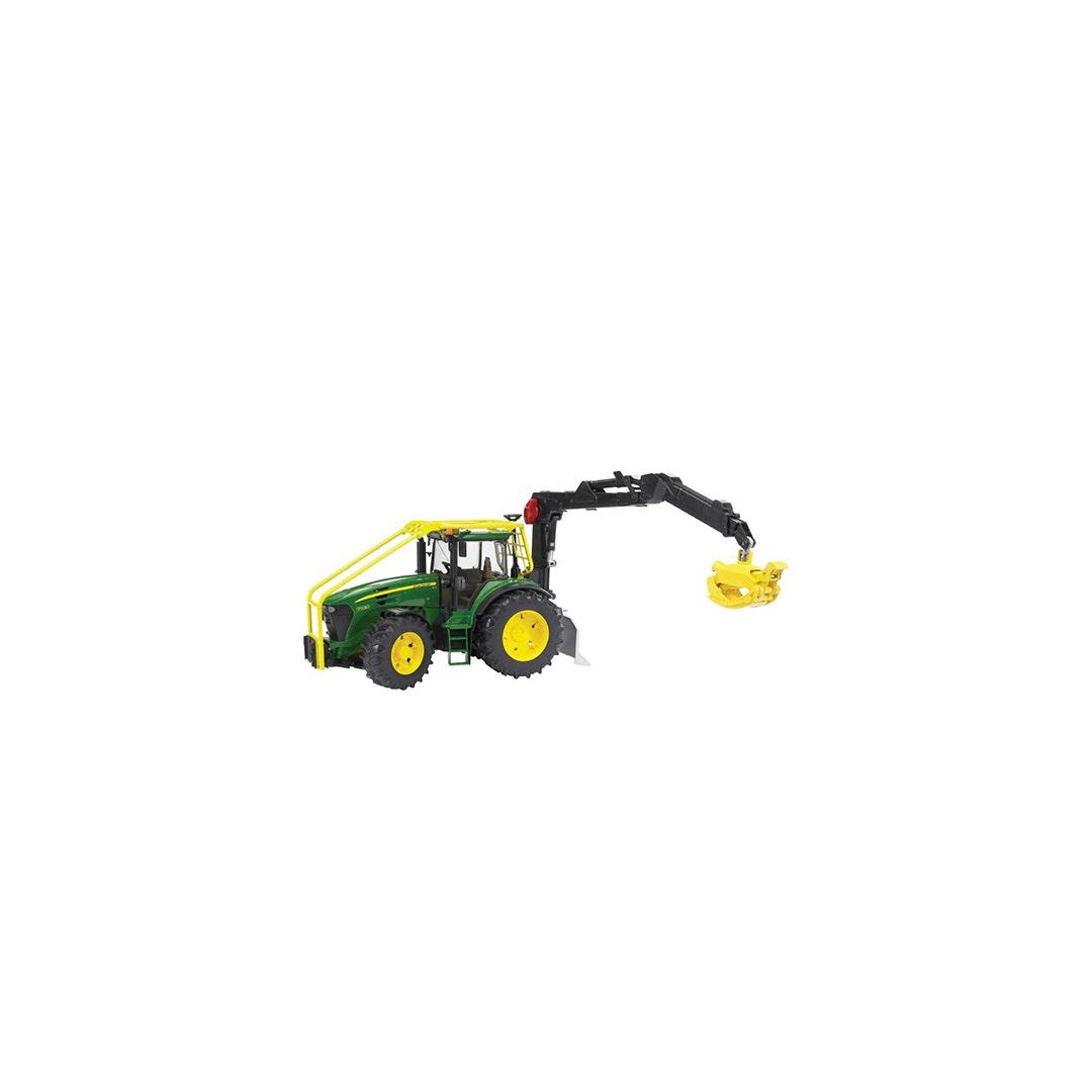Traktor John Deere 7930 Med kran Bruder 01:16
