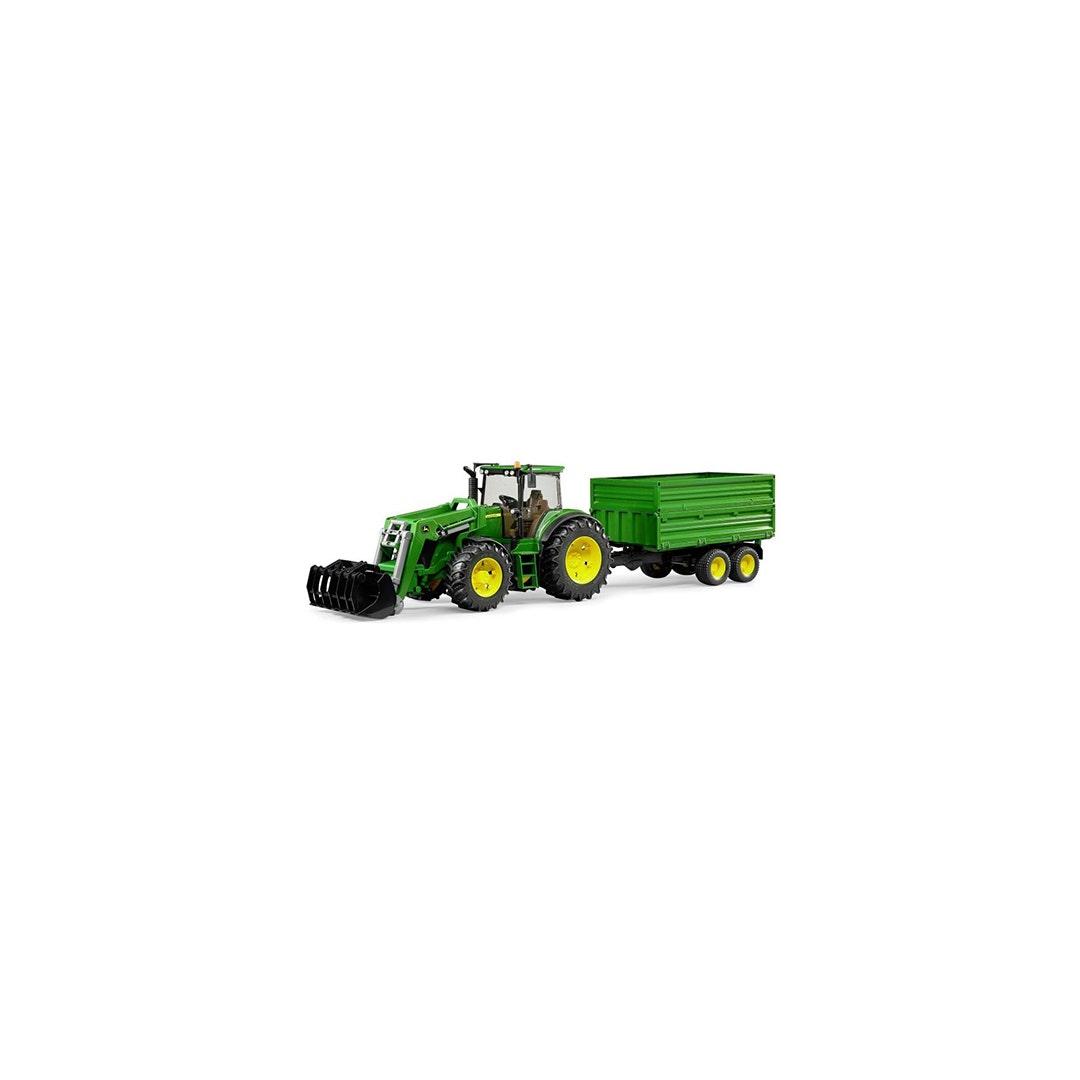 Traktor John Deere 7930 Med släpkärra Bruder Skala 01:16
