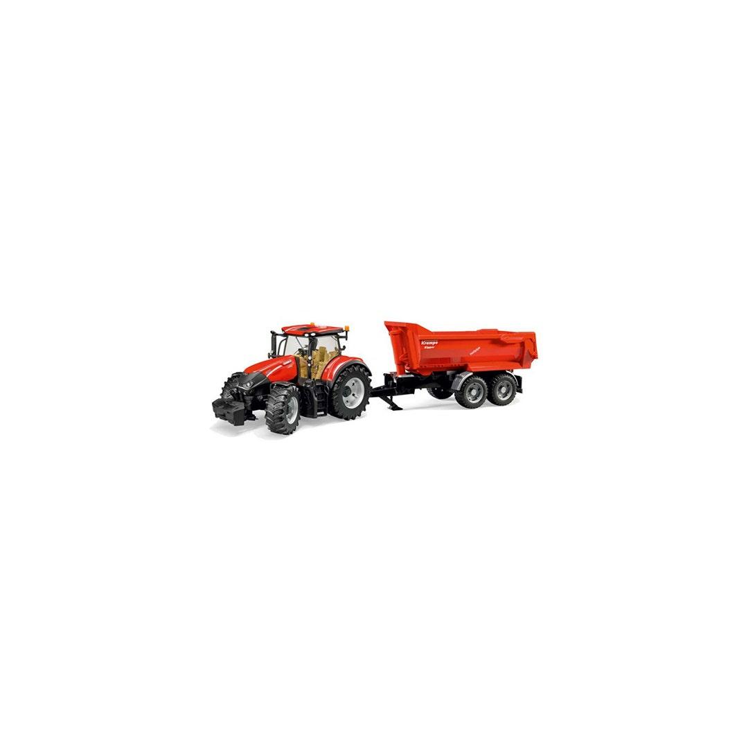 Traktor Case Ih Optum 300 Cvx Med tippvagn Bruder