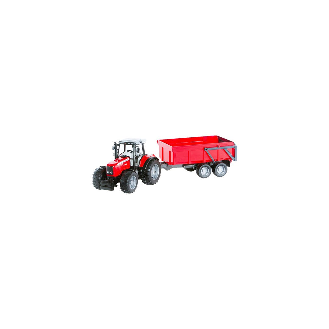Traktor Massey Ferguson 7480 Med vagn Bruder 01:16