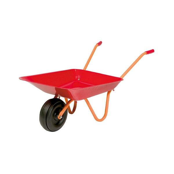 Barnskottkärra Hörby Bruk Poppy Röd Med Plasthjul