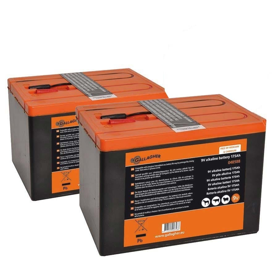 Duopack Batteri Gallagher 2x9v/175ah