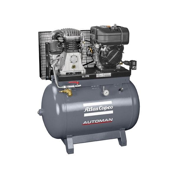 Kompressor Atlas Copco Bensindriven 10,7 Hk 270 liter