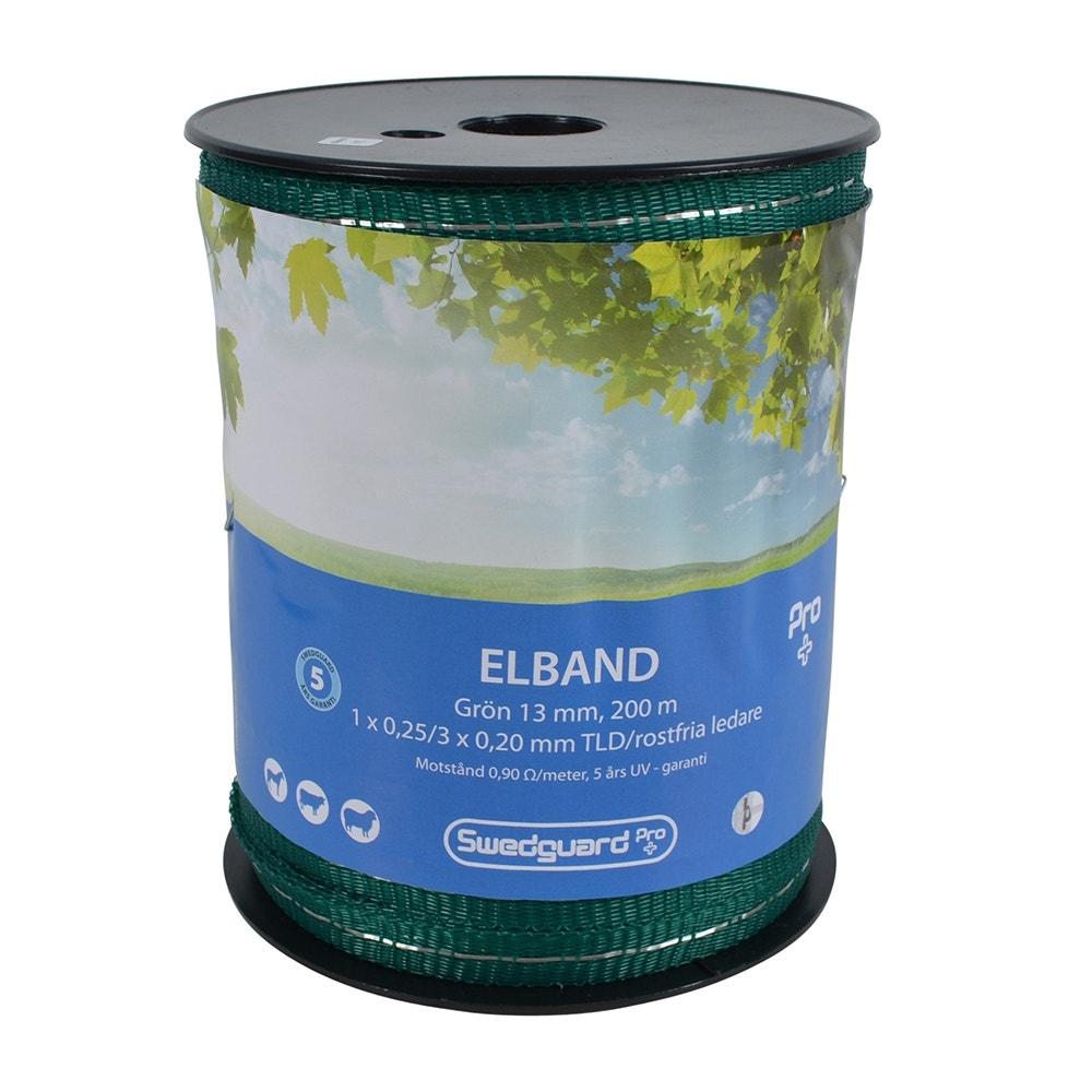 Elband Swedguard Pro+ 13mm Grön 200 M 1x0,25/3x0,20