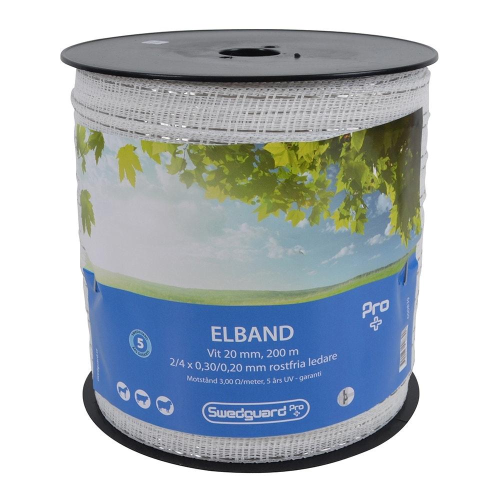 Elband Swedguard Pro+ 20mm Vit 200 M 2x0,3/4x0,2