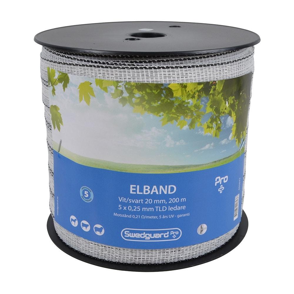 Elband Swedguard Pro+ 20mm Vit/svart 200 M 5x0,25