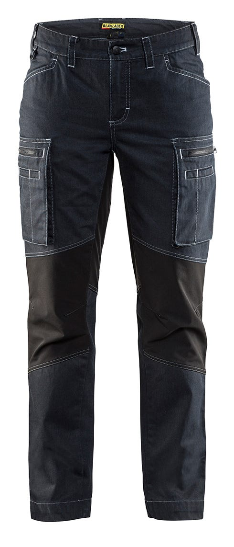 Arbetsbyxa Blåkläder Stretch Dam Marinblå/svart 7159 C34