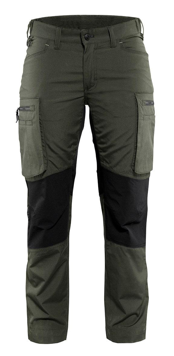 Arbetsbyxa Blåkläder Stretch Dam Armégrön/svart 7159 C40
