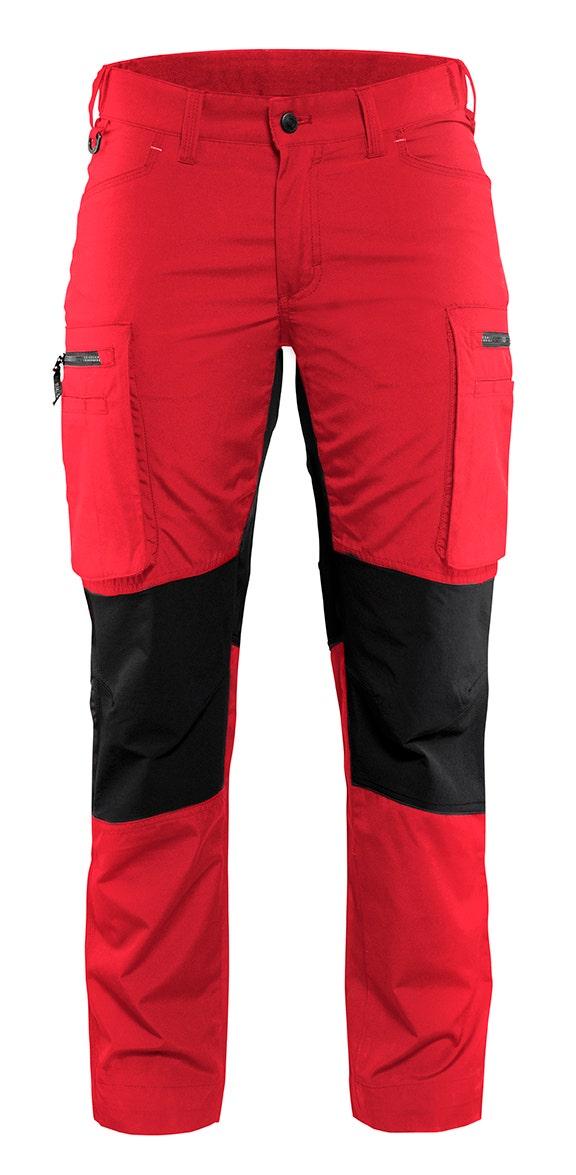 Arbetsbyxa Blåkläder Stretch Dam Röd/svart 7159 C32