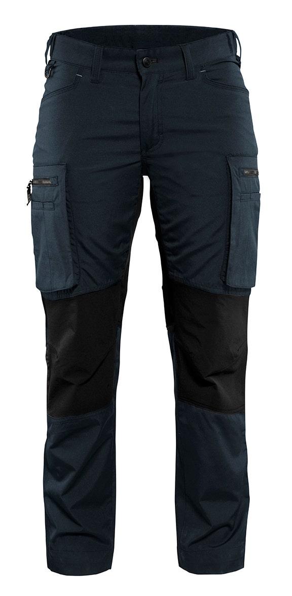 Arbetsbyxa Blåkläder Stretch Dam Mörk Marinblå/svart 7159 C38