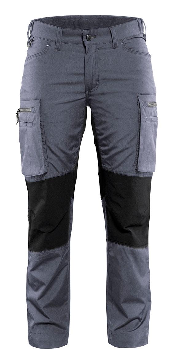Arbetsbyxa Blåkläder Stretch Dam Grå/svart 7159 C42