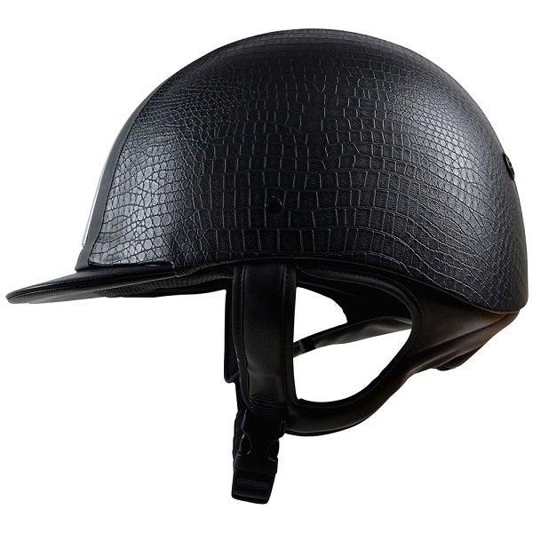 Ridhjälm Hansbo Croc stl 59 svart med stålskena