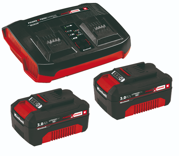 Einhell 18v Pxc Twin Chargerkit 2x 3,0ah