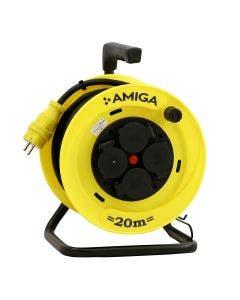 Kabelvinda AMIGA 20 Meter 4 Uttag H07RN-F 3G1.5