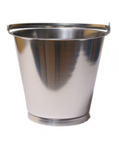 Hink med bottenband Rostfri 10 liter