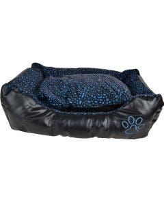 Hundsäng Jakt konstläder 90 x 70 cm blå/svart