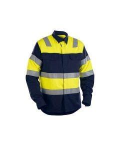 Flamskyddad skjorta Blåkläder 8933 Marinblå/Gul