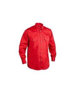 Twillskjorta Blåkläder Röd / Kornblå