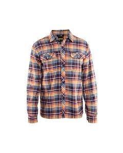 Flanellskjorta Blåkläder 329911378954 Navy/Orange
