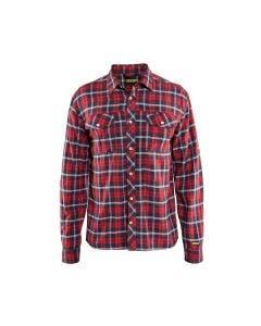 Skjorta Blåkläder 329911385689 Rutig Röd/Marinblå