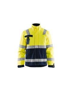 Vinterjacka Blåkläder 3389 Gul/Marinblå