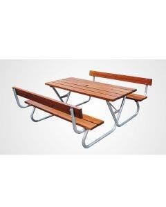Bänkbord Formenta Solid 180 cm Med ryggstöd