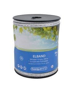 Elband Swedguard Pro+ 12 mm  Vit/Svart 200 m 5x0,25