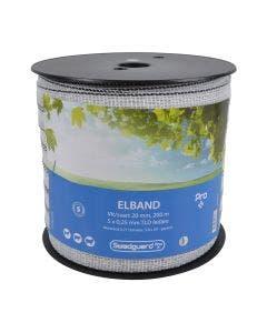 Elband Swedguard Pro+ 20 mm Vit/svart 200 m 5x0,25