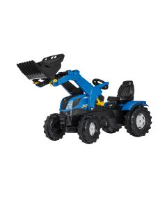 rollyFarmtrac Rolly Toys New Holland med Frontlastare