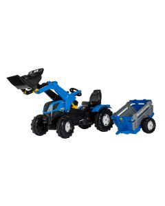 rollyFarmtrac Rolly Toys New Holland med Släp