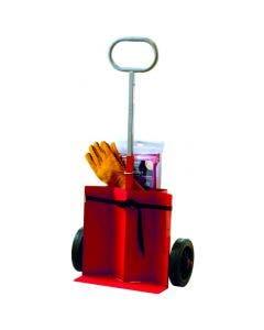 Släckkärra Housegard ET2X6 Heta arbeten vagn med brandfilt & svetshandskar