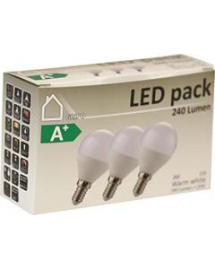 LED Klot 3W 3-pack Opal E14 240lm 3000K