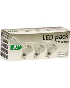 LED GU10 3W 3-pack Refl 200-250lm