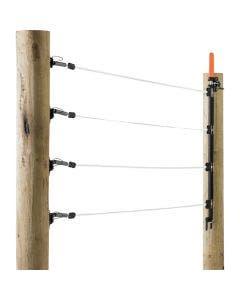 Bandgrind Gallagher för 2 x 12,5mm band vit, upp till 8 m